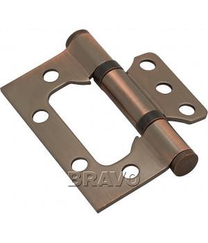 Петля без врезки стальная 2ВВ 75*63*2,5 (AC- Медь)