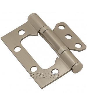 Петля без врезки стальная 2ВВ 75*63*2,5 (SN-МатНикель)