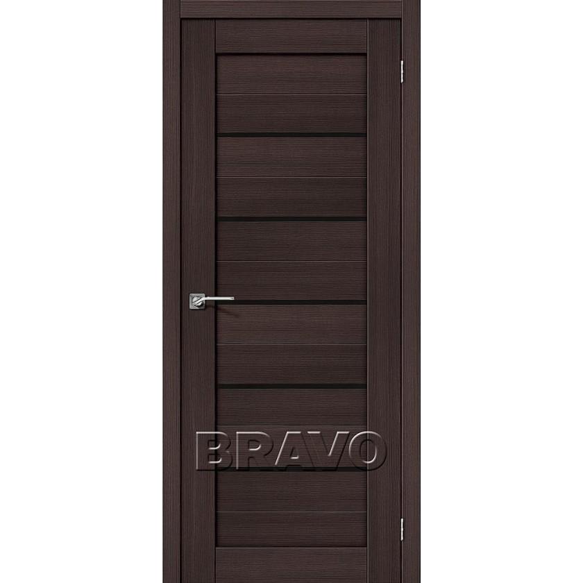Порта-22 Венге Вералинга (черное стекло)