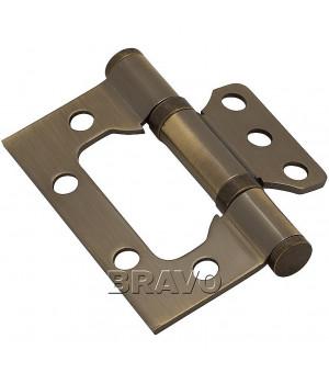 Петля без врезки стальная 2ВВ 75*63*2,5 (AB- Бронза)