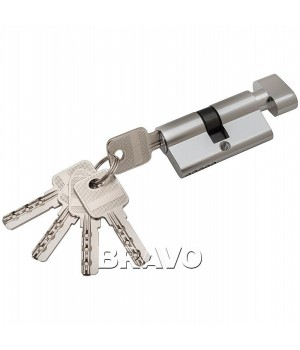Цилиндр 60-30/30 ключ-фиксатор (Хром)