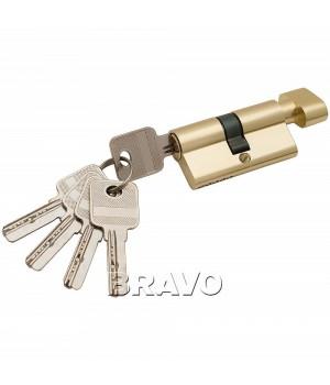Цилиндр 60-30/30 ключ-фиксатор (Золото)