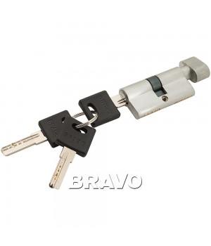 Цилиндр Bravo ZF-60-30/30 ключ-фиксатор (Белый)