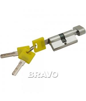 Цилиндр Bravo ZF-60-30/30 ключ-фиксатор (Хром)