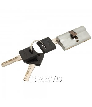 Цилиндр Bravo ZK-60-30/30 ключ-ключ (Хром)