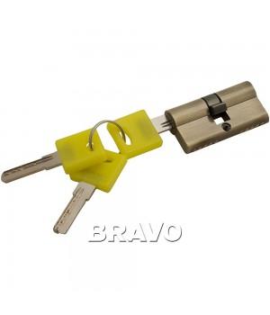 Цилиндр Bravo ZK-60-30/30 ключ-ключ (Бронза)