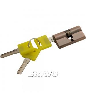 Цилиндр Bravo ZK-60-30/30 ключ-ключ (Медь)