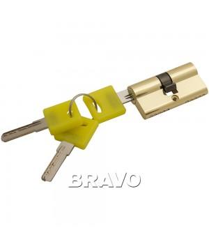 Цилиндр Bravo ZK-60-30/30 ключ-ключ (Золото)