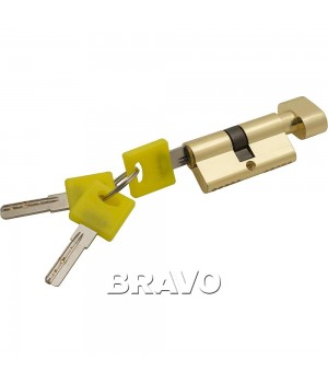 Цилиндр Bravo ZF-60-30/30 ключ-фиксатор (Золото)