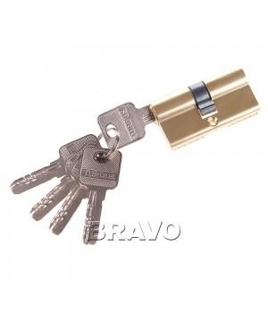 Цилиндр 60-30/30 ключ-ключ (Золото)