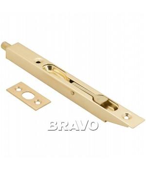Шпингалет торцевой Bravo R-160 (PB- Золото)